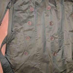 Jacob Jackets & Coats - Hunter Green trench coat